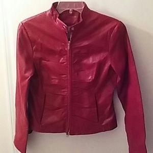 Wilsons Leather Mazima Red Jacket S